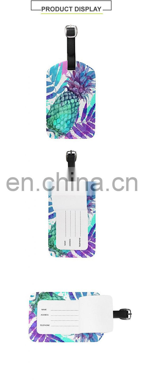 Wholesale Travel Bag Tag Luggage Pineapple Design