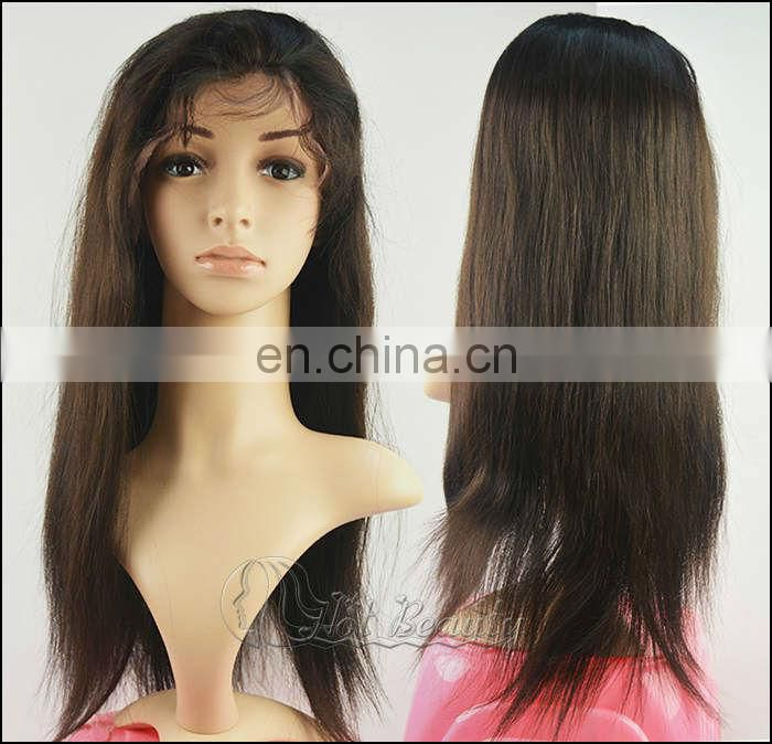 2013 Alibabas Wigs 100% Brazilian Full Lace Silk Top Human Hair Wigs