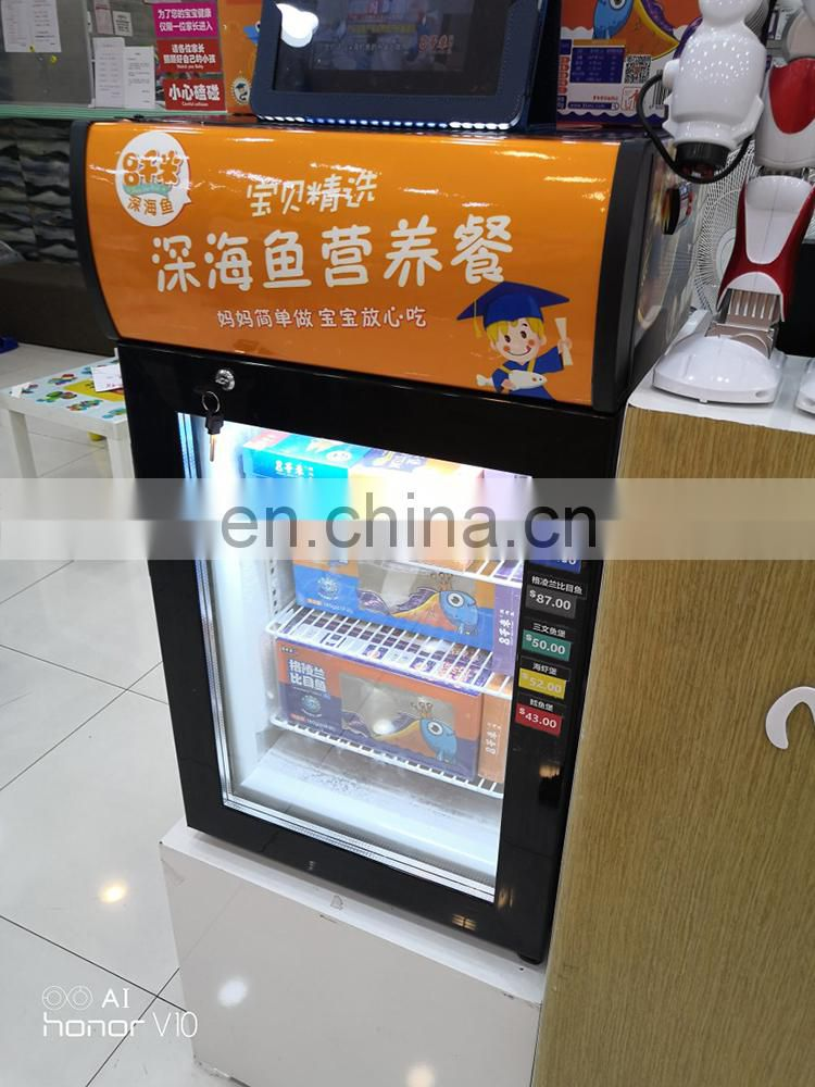 Table Top Commercial Ice Cream Freezer Display Showcase Cabinet With Glass Door