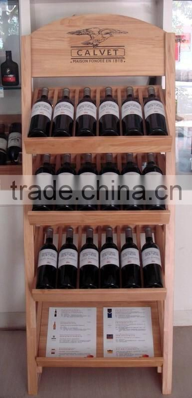 Antique high quality handmade new arrive custom 8 bottle wooden wine rack