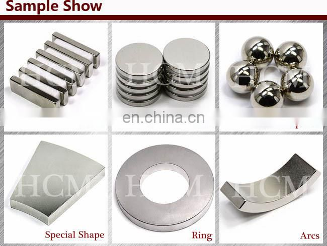 all grade for various shapes rare earth N38 neodymium magnets