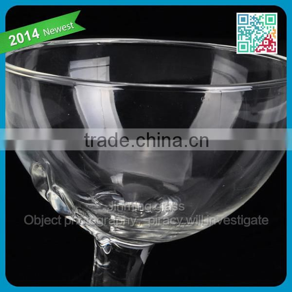 stylish designed icecream glass goblet cup thin wall hand made wine glass best gift for lover