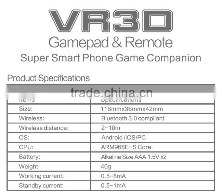 Bluetooth VR Remote Controller For Virtual Reality 3D Glasses Video Movie Gamepad