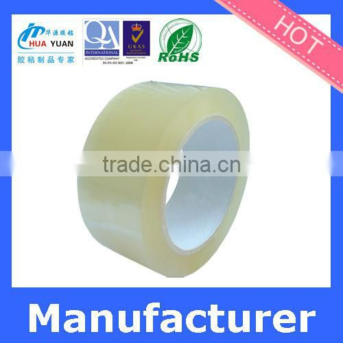 clear Hot Melt Adhesive jumbo roll packing bopp tape