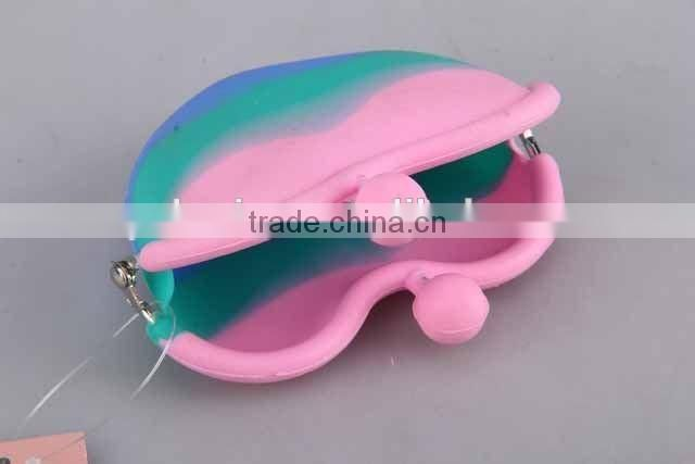 Colorful Silicone Purse/Heart-Shaped Coin Purse