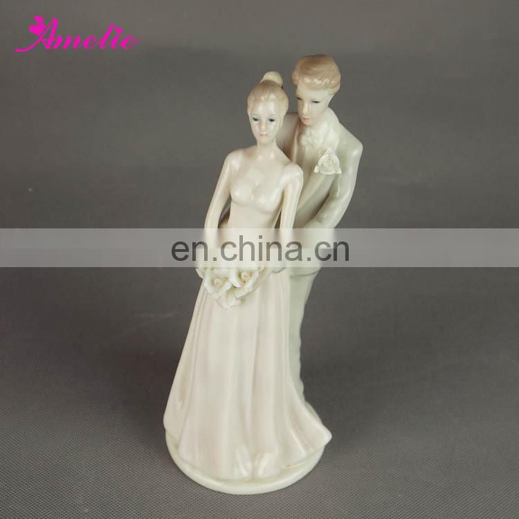 A07378 Bride Groom Ceramic Wedding Cake Decoration