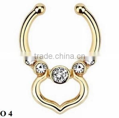 High Quality No Piercing Hole Jewelry India Nose Ring O 4