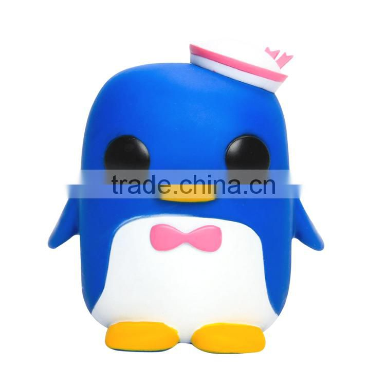 custom soft pvc big size penguin toy , OEM rubber animal vinyl toys, 3d custom made plastic vinyl toy