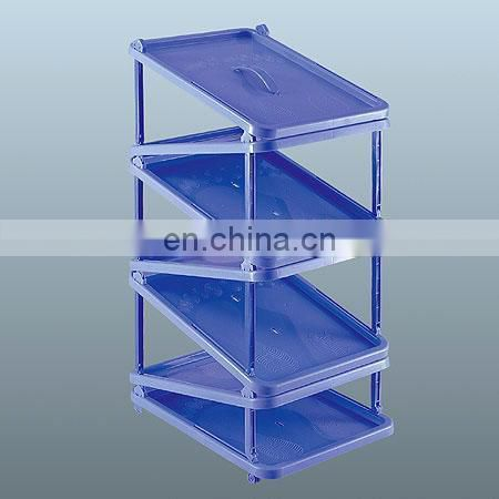 Good quality plastic folding shoe shelf