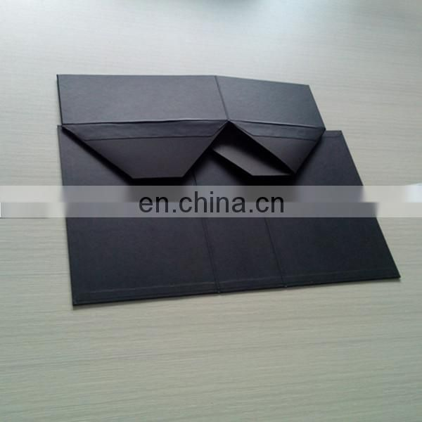 Luxury Black Gift Boxes With White Logo Printed For Scarf Packing, Packing Luxury Boxes For Acessories Design