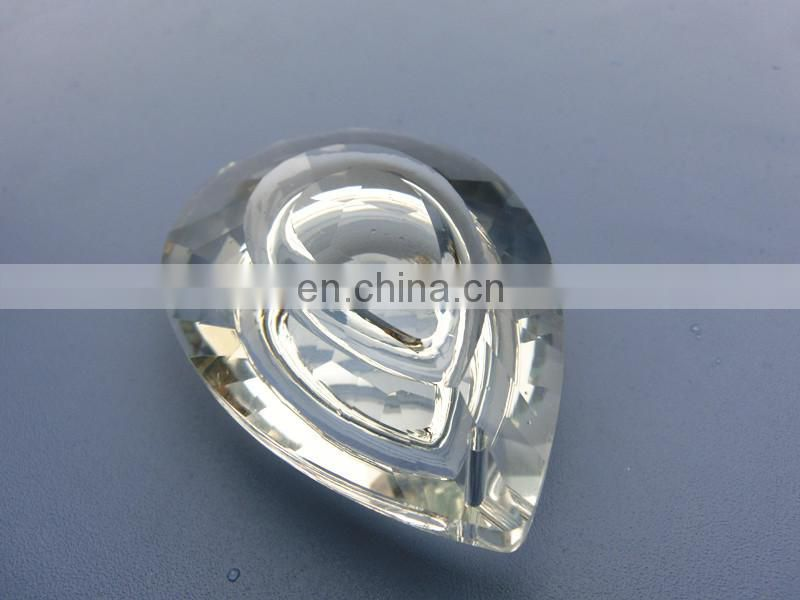 76mm Double Heart Pear Shape Crystal Pendant Trimmings for Crystal Chandeliers Accessories