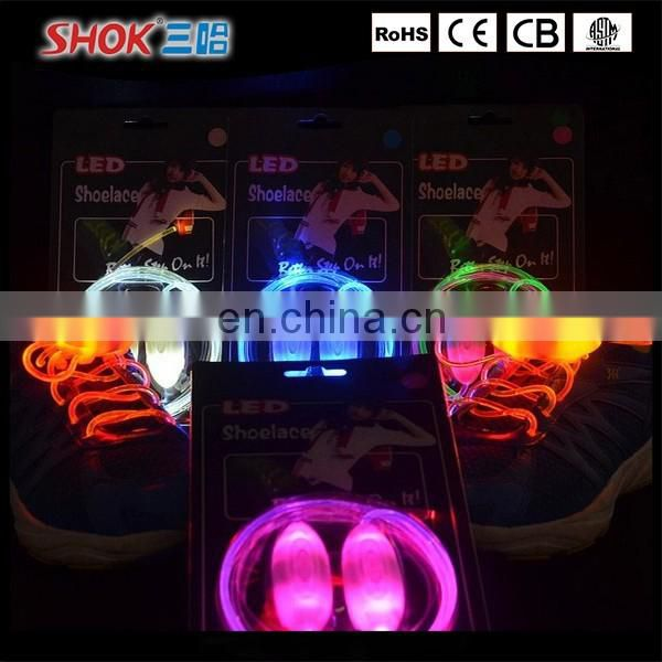 2016 Hot Sale Unisex Led Light Shoelace for sport shoelaces