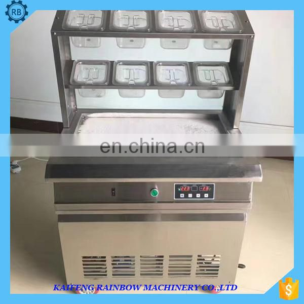Food hygiene design fried ice roll machine,commercial soft ice cream making yogurt machine lower price