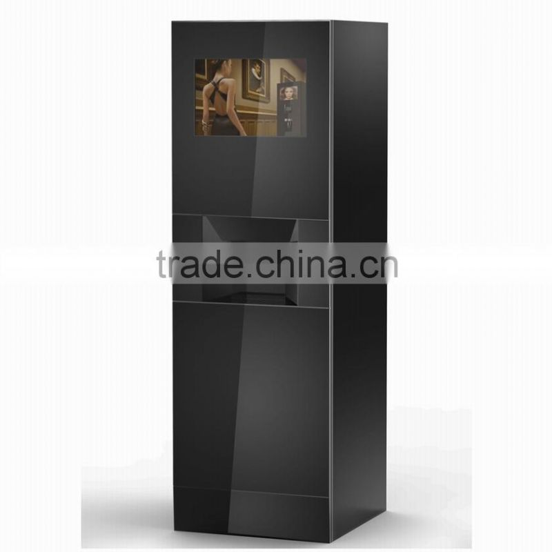 2xES7C foot standing touch screen bean to cup commercial espresso coffee vending machine