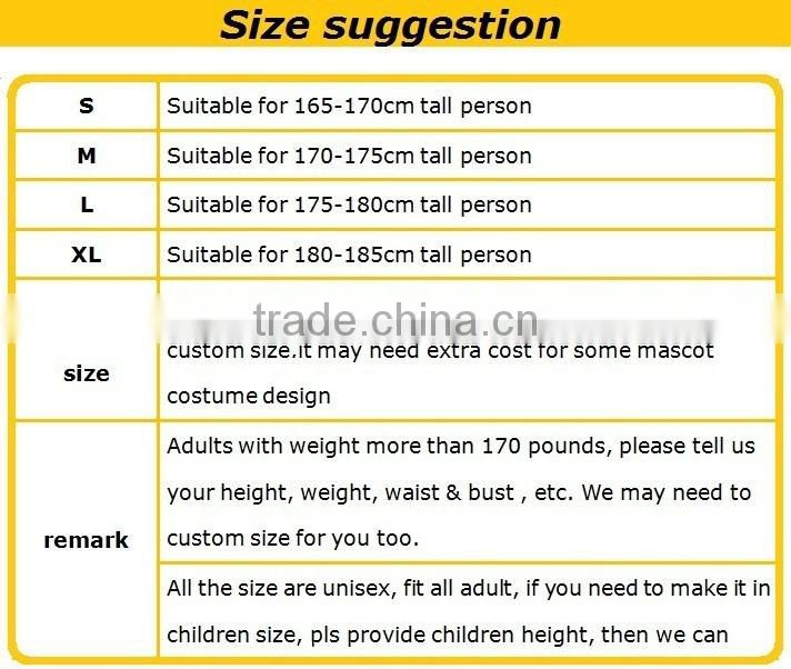 OEM conpetitive price christmas costume adult sugar costuume sweets mascot candy mascot costume