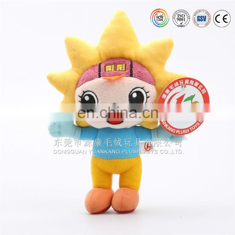 Plush high quality handmade happy girls toy for advertising promotion
