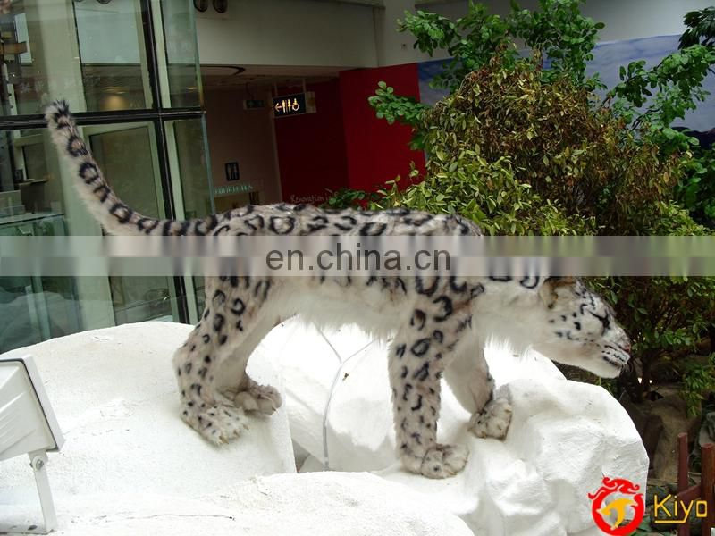 2016 shopping mall mechanical animals moving simulation snow leopard
