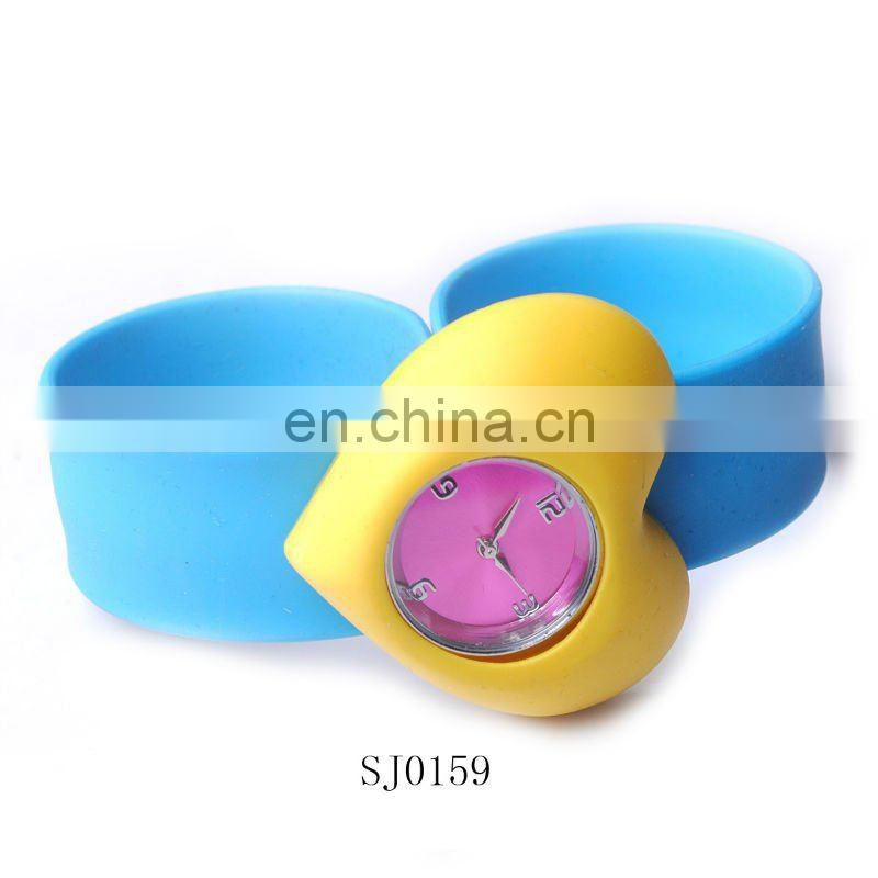Hot Sale Fashion Heart Soft PVC Slap Watch