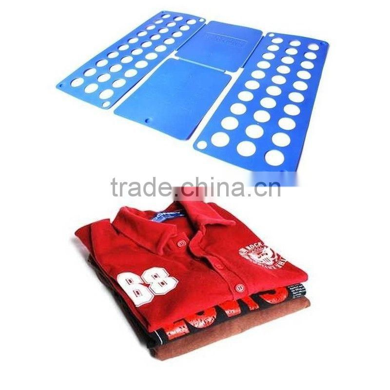 Automatic magic plastic shirt folder/household laundry flip folding shirt folder/adult clothes folding board shirt folder
