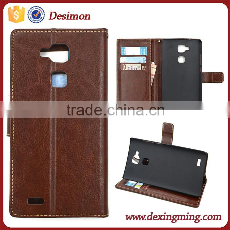 Shockproof Leather Case for Huawei Ascend Mate 7 lte mt7-l09 with card holder