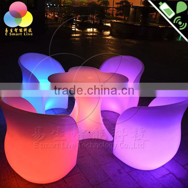 CP decorative polyurethane roman column pillars with colorful light for wedding stage