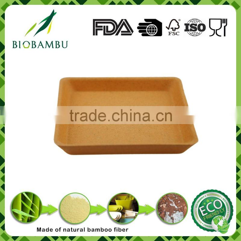Best selling personalized traditionary bamboo fiber serving tray