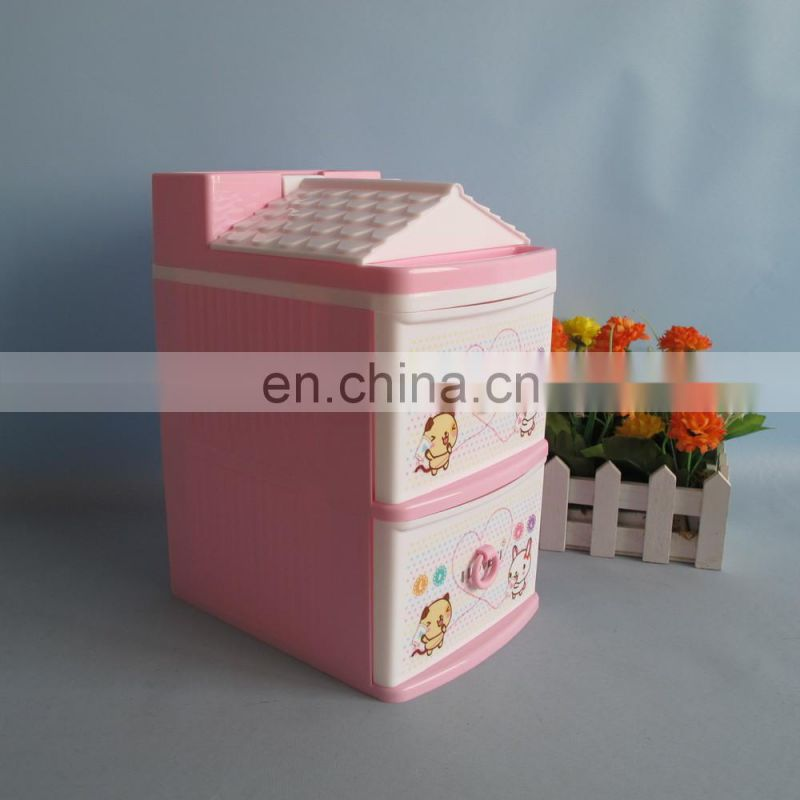 2014 new product 2-layer plastic drawer storage box
