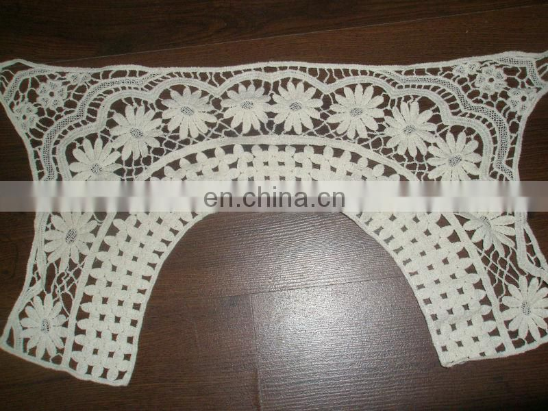 Cotton lace collar for garment accessory