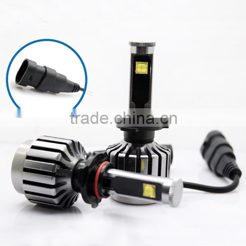 9-36v 3800 Lumens 30W 3000lm LED Headlight Kit - 9006 LED Headlight Bulbs Conversion Kit with Built In Fan