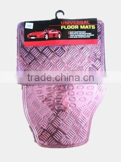 universal auto accessories pink aluminium car mats,car floor mat