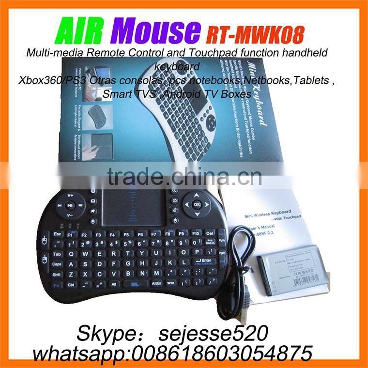 Rii Portable Mini keyboard RT-MWK08 Wireless 92-Key QWERTY Keyboard
