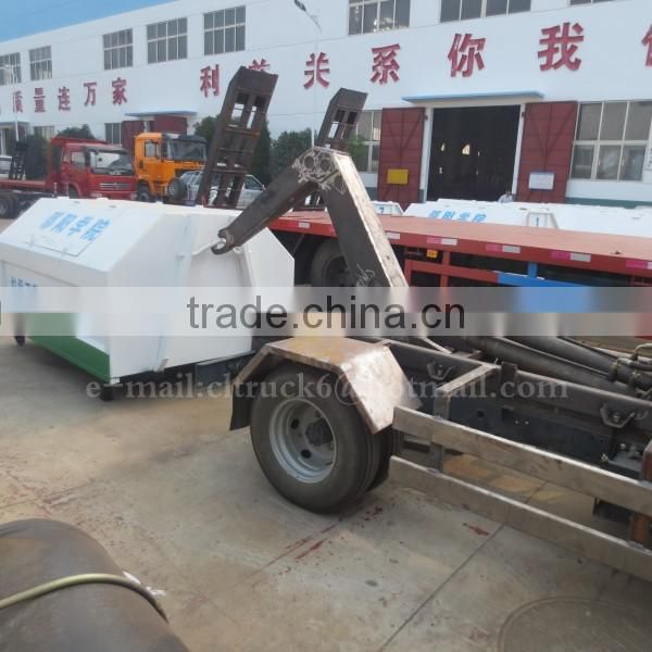 4*2 CHANGAN 3m3 Hook Lift Trash Truck for sale