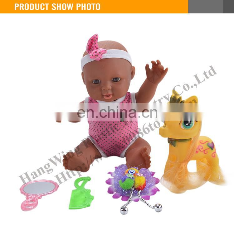 2015 New Lovely Black Silicone Reborn Baby Dolls