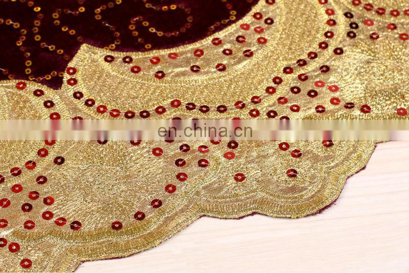 2014 sequin embroidery handcut velvet african lace fabric