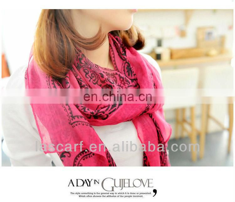 European style printing high fashion custom-made scarf for promotion