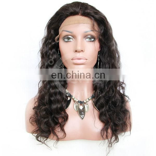 hot new products for 2014 black woman sexy natural looking brazilian human hair front lace wigs for black women