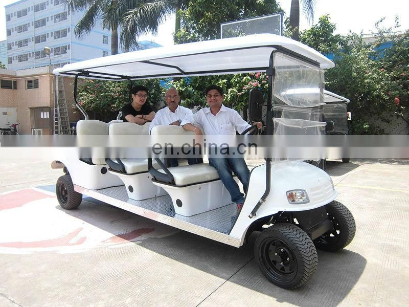 Airport 6 passenger electric golf cart shuttle for sale (AX-B9), Including roof, windshield, batteries and charger