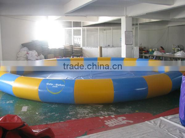 hot selling blue and yellow inflatable water pool