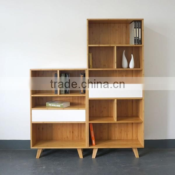 2016 new model living room furniture modern bamboo bookcase
