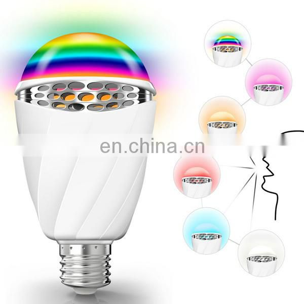 2017 new arrival colorful LED voice control bulb,energy saving speech recognize bulb