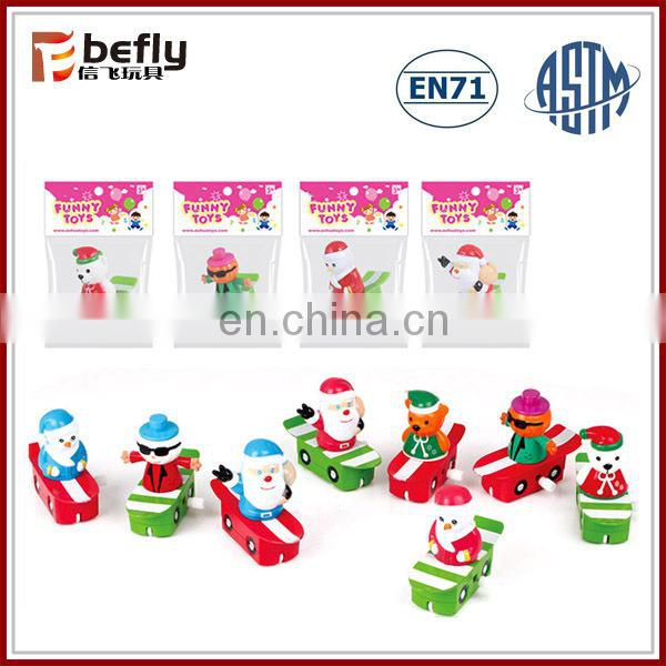 Promotional kids santa snowman christmas wind up toys