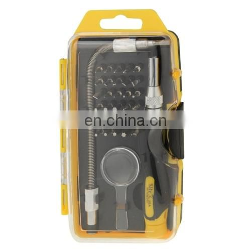 SK-1193 33 in 1 Precision Magnetic Screwdrivers Set Tool Kit Repair Tools with Flexible Extension for Notebook
