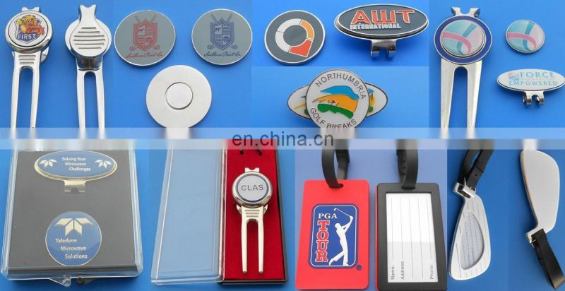 golf divot tool with hat clip for golf day souvenir, metal cap clip with magnet ball marker for men