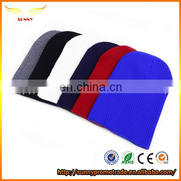 new design solid color knitted beanie