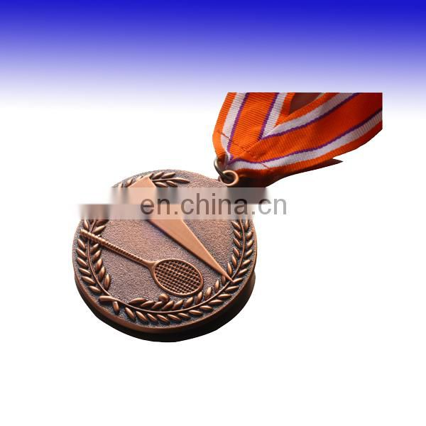 custom antique copper chess medal with lanyard