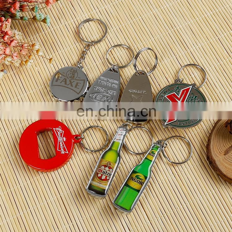 Promotional giveaways bottle opener key chain ring metal key ring
