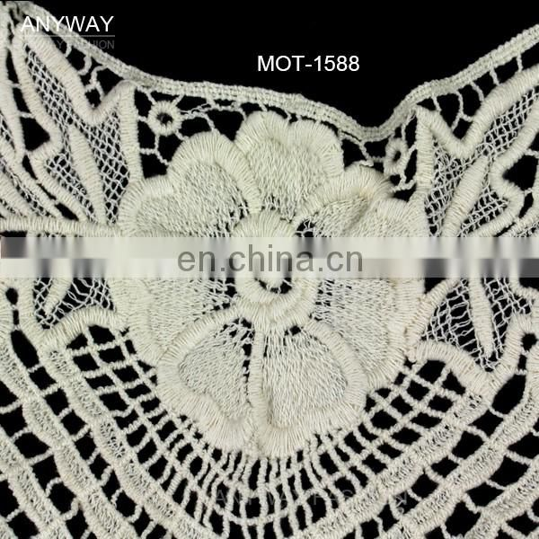 New arriaval collar battenburg lace trim for ladies garment