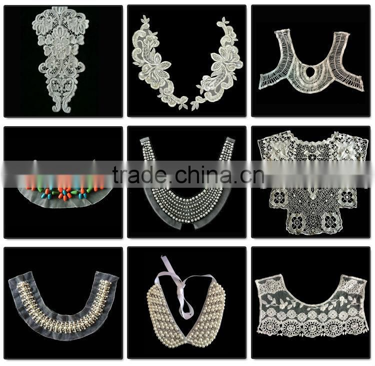 BOKA New Arrival colorful crystal rhinestone neckline,embroidery collar with diamond applique