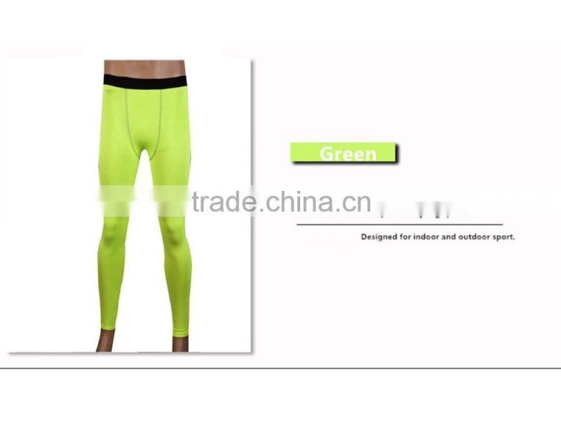 Men Compression Bodybuilding Pants GYM Weight Lifting Running Leggings Workout Fit Skin Tights Trousers Free Shipping 1020