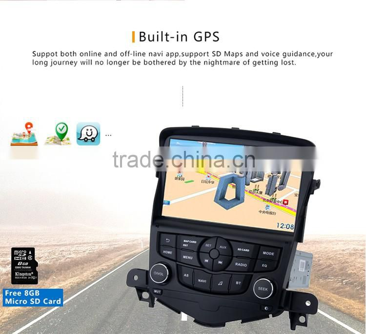 8 Inch 2 din CPU fancy Android Black screen 1024 600 car gps Stereo dvd player OEM for Chevrolet Cruze